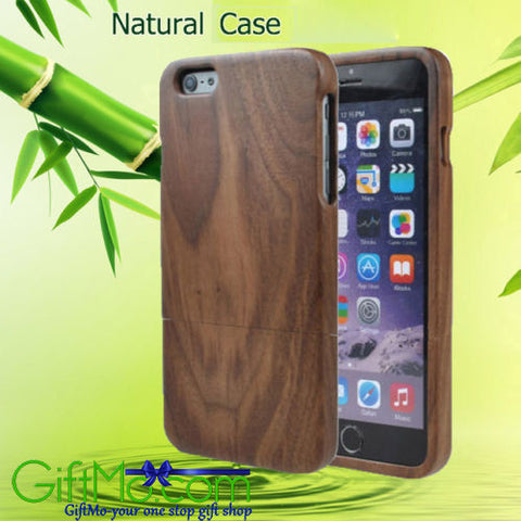 Beautiful Real Natural Handmade Wood Bamboo Wooden Hard Case Cover For iPhone 6 /6S/ Plus - GiftMo