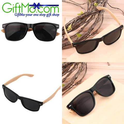 Bamboo Sunglasses Wooden Wood Mens Women's Retro Vintage Summer Glasses - GiftMo