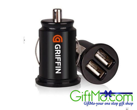 Car Charger Adaptor Bullet Dual Mini USB 2-Port for Apple iPhone 4 S 5 Samsung - GiftMo