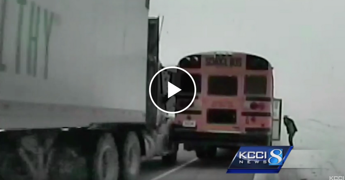 WATCH: Cop Exits Car to Assist School Bus. Next 20 Seconds Are Insane....