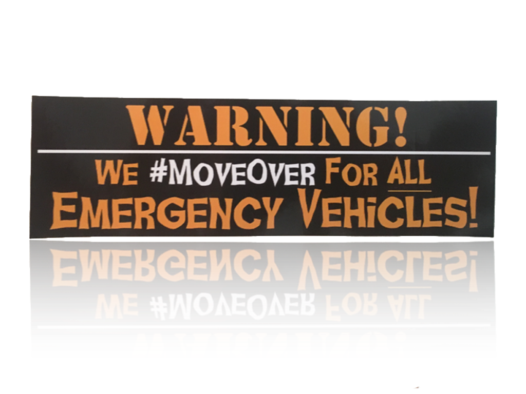 Move Over Decal (5-Pack)