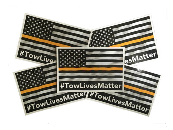 Tow Lives Matter Decals (5-Pack)