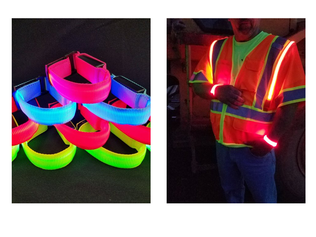 Optic-Fiber Wrist Bands