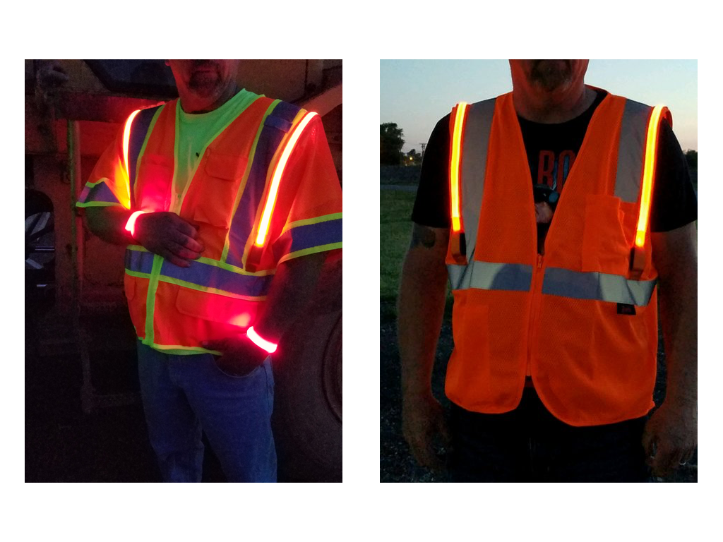 Optic-Fiber Safety Vest (FIRE & EMS ID PANELS)