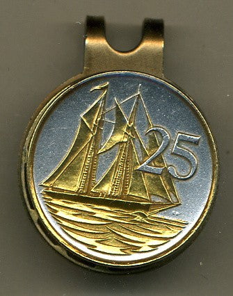 "Cayman Islands 25 cent ""Sail boat"" (quarter size)"
