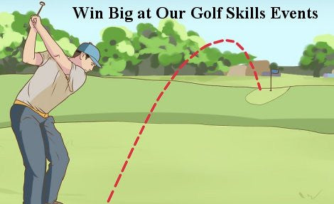 Win over $500.00 in prizes at our golf skills events
