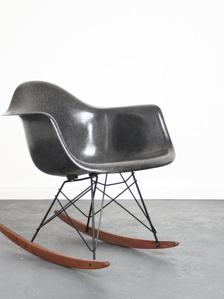 black Eames RAR chair