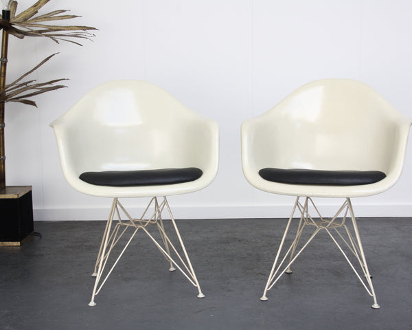 set of 2 Eames DAR chairs