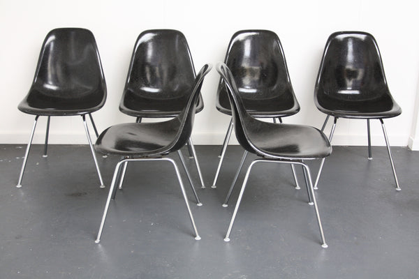 black Eames DSX chairs
