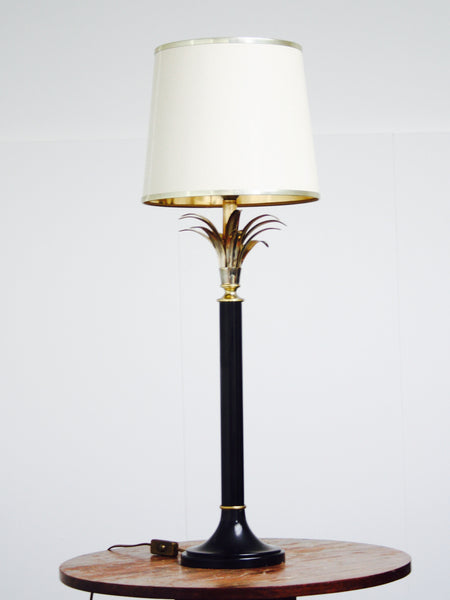 brass palm table lamp by Maison Jansen
