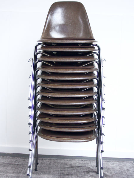 set of 12 Eames stacking chairs