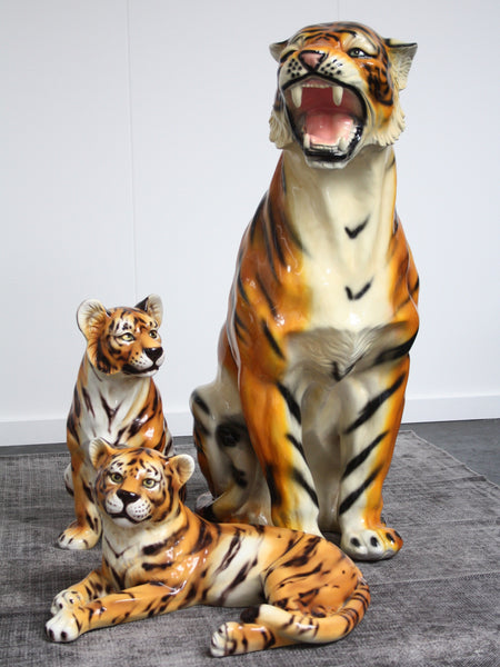 great set of porcelain tigers