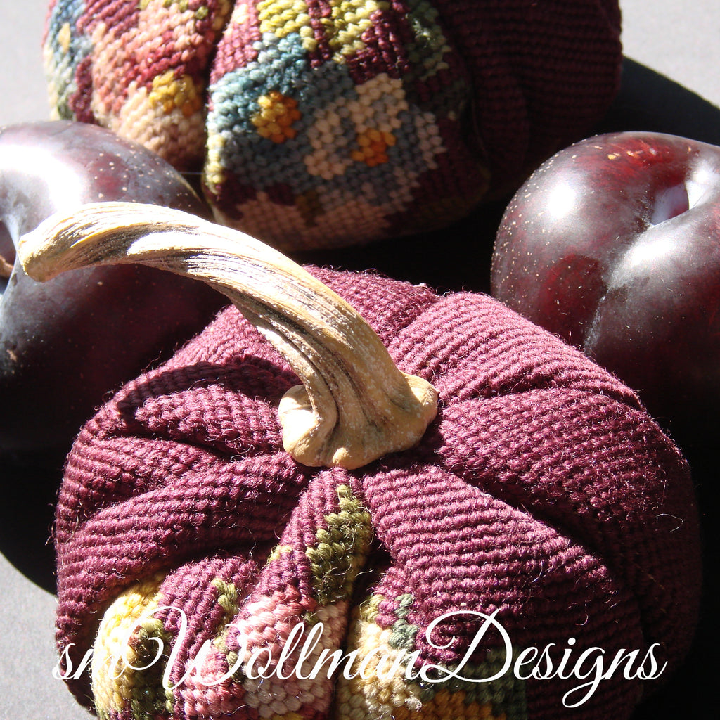 Heirloom Needlepoint Pumpkins (tm)