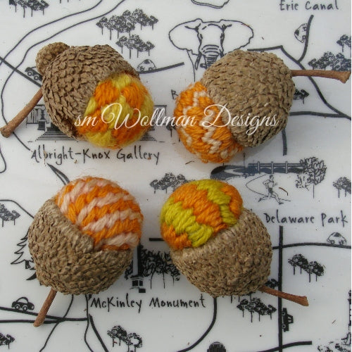 "1.5"" Jumbo ~ Orange/Chartreus Mix Stitch"