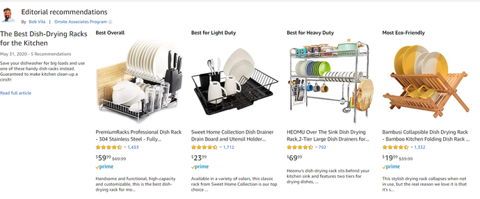 Bob Vila of Amazon votes Premium Racks best overall on Amazon!