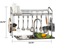 PremiumRacks Professional Over The Sink Dish Rack - Fully Customizable - Multipurpose
