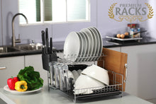 PremiumRacks Professional Dish Rack - 304 Stainless Steel- Fully Customizable - Large Capacity - Modern Design