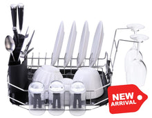 New--Premiumracks Countertop Dish Rack - Perfect For Smaller Spaces Wine Glass Holders Modern Design