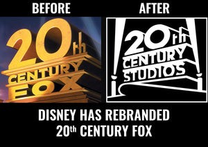 Disney rebranded 20th Century Fox to 20th Century Studios
