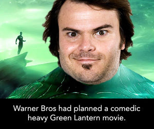 Warner Bros. had planned a comedic heavy Green Lantern movie.