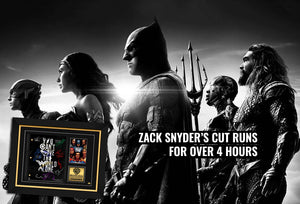Zack Snyder's cut runs for over 4 hours
