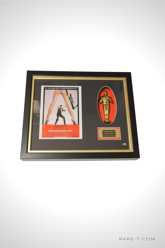 RARE-T Exclusive Limited Edition 'JAMES BOND - GOLD OSCAR' Custom Frame