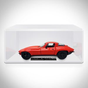 Fast & Furious F8 Letty's 1966 Chevy Corvette C2 Sting Ray 1:24 Die Cast Car Custom Museum Display