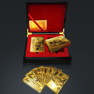 24K $100 USD GOLD PLATED Playing Cards with Elegant Display Box