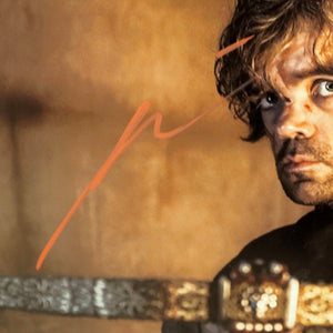 Game Of Thrones- Hand-Signed Tyrion Lannister Holding Crossbow Photo By Peter Dinklage Custom Frame