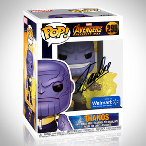 Marvel Infinity War - Thanos Hand-Signed  Funko Pop #296 By Stan Lee