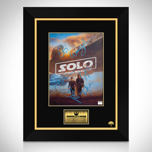 Solo A Star Wars Story - Hand-Signed Mini Poster By Cast Members Custom Frame