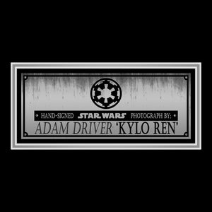 Star Wars- Kylo Ren Hand-Signed Photo by Adam Driver Custom Frame