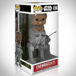Star Wars - Hand-Signed Chewbacca On At-St Funko Pop By George Lucas
