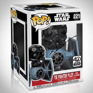 Star Wars - Hand-Signed Tie Fighter & Tie Fighter Pilot Funko Pop By George Lucas