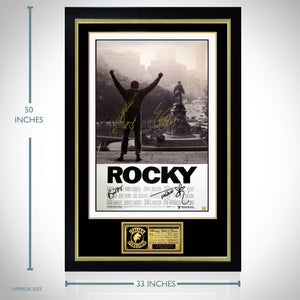 Rocky - Hand-Signed Poster By Sylvester Stallone, Carl Weathers, Talia Shire & Burt Youngcustom Frame