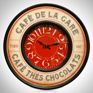 Café de La Tour Eiffel// Wall Art Clock