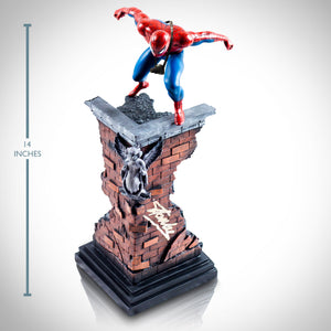 Spider-Man- Hand-Signed Statue With Camera On Building By Stan Lee