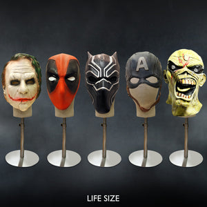 Premium Super Hero Masks With Head Stand
