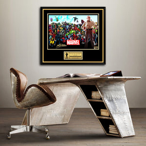 Stan Lee- Hand-Signed Marvel Universe Memorial Poster By Stan Lee Custom Frame