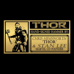Thor- Hand-Signed Thor Hammer Mjolnir By Chris Hemsworth & Stan Lee