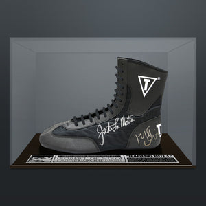 Raging Bull- Hand-Signed Boot Byu Jake Lamotta & Robert De Niro Custom Museum Display