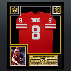 Steve Young Hand-Signed 49Ers Custom Football Jersey