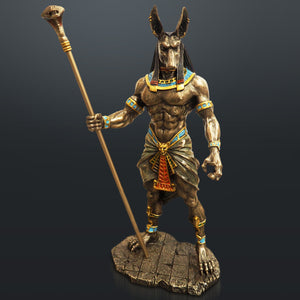 Egyptian God Anubis Cast Bronze Statue