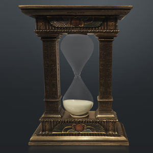 Egyptian Gate Hourglass Sand Timer Cast Bronze Statue