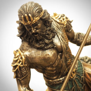 Greek God Of Sea Poseidon Cast Bronze Statue