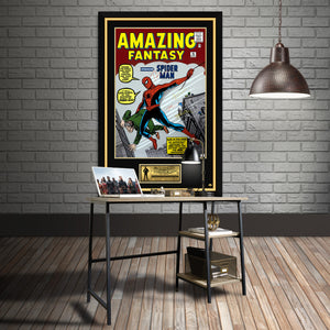Spider-Man Hand-Signed Comic Cover Poster By Tom Holland, Andrew Garfield,Tobey Maguire & Stan Lee