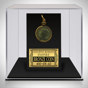Bronze Coin Pendant - Authentic Ancient Roman Empire Bronze Coin Pendant Custom Museum Display