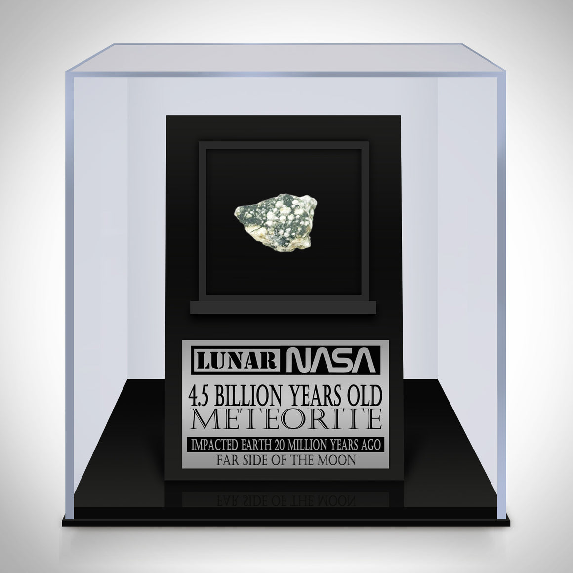 Authentic 4.5 BILLION YEARS OLD 'LUNAR METEORITE' Museum Display