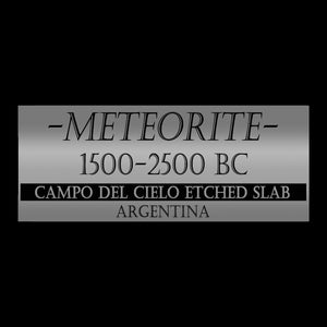 Authentic Campo Del Cielo Meteorite From 1500-2500 Bc Custom Museum Display