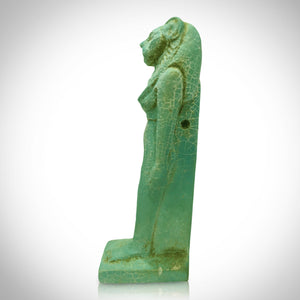 Authentic Egyptian Warrior Goddess Sekhmet Statue Displayed In A Custom Museum Display